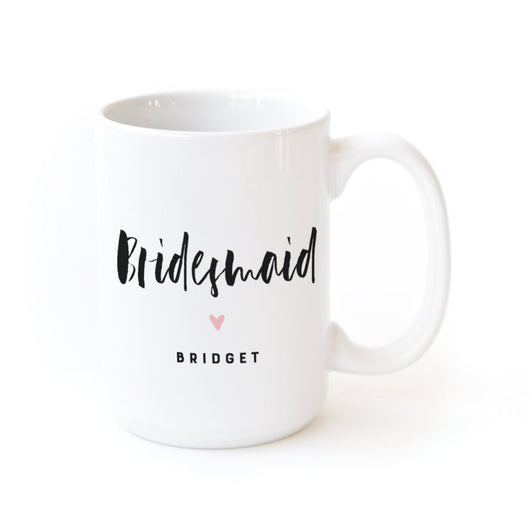 Bridesmaid Personalized Coffee Mug - The Cotton and Canvas Co.