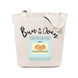 Bun In The Oven Cotton Canvas Tote Bag - The Cotton and Canvas Co.