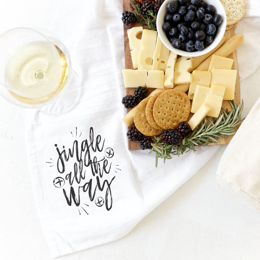 Details about  /Jingle All the Way Christmas Kitchen Tea Towel