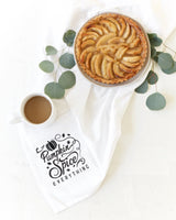 Pumpkin Spice Everything Kitchen Tea Towel - The Cotton and Canvas Co.