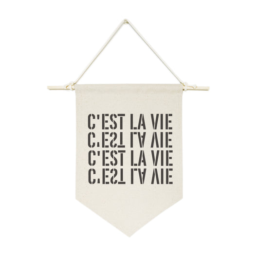 C'est La Vie Hanging Wall Banner - The Cotton and Canvas Co.