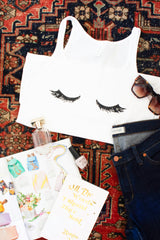 Closed Eyelashes Tank - The Cotton and Canvas Co.