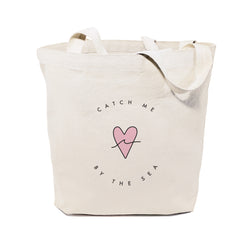 Catch Me By the Sea Cotton Canvas Tote Bag - The Cotton and Canvas Co.