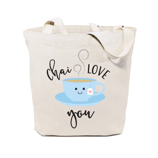 Chai Love You Cotton Canvas Tote Bag - The Cotton and Canvas Co.