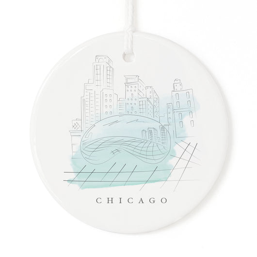 Chicago Christmas Ornament - The Cotton and Canvas Co.