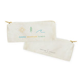 Choose Adventure Always Canvas Pencil Case and Travel Pouch - The Cotton and Canvas Co.