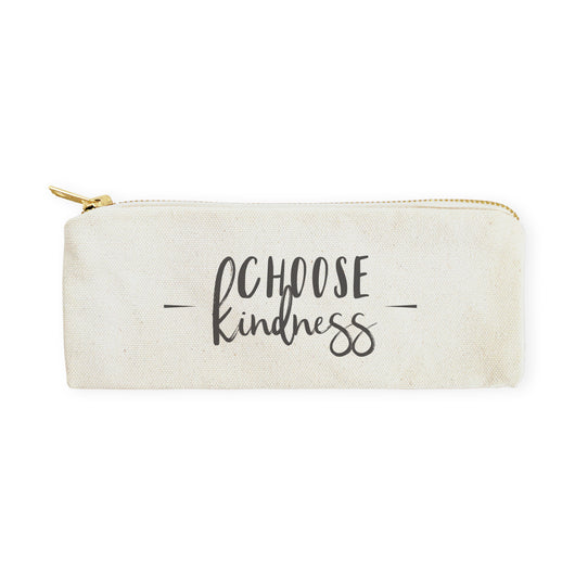 Choose Kindness Cotton Canvas Pencil Case and Travel Pouch - The Cotton and Canvas Co.