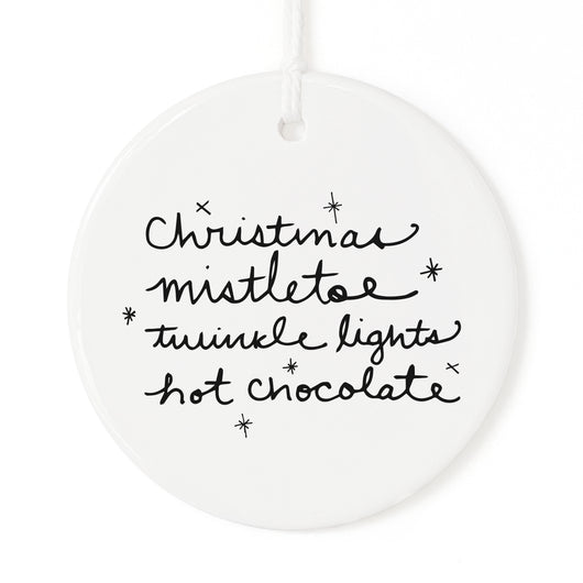 Christmas Favorites List Christmas Ornament - The Cotton and Canvas Co.