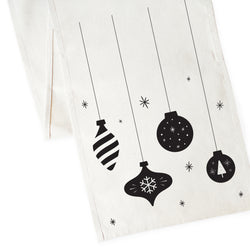 Christmas Ornaments Canvas Table Runner - The Cotton and Canvas Co.