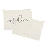 Confidence Cotton Canvas Cosmetic Bag - The Cotton and Canvas Co.