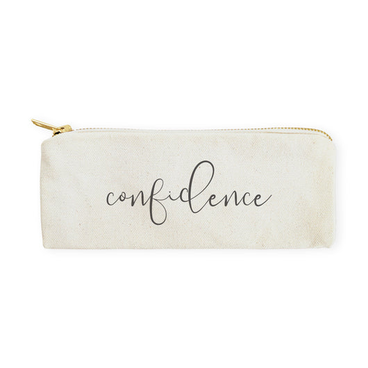 Confidence Cotton Canvas Pencil Case and Travel Pouch - The Cotton and Canvas Co.