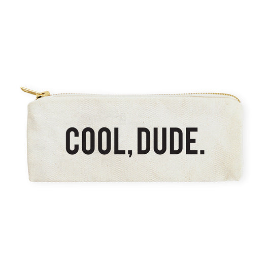 Cool Dude Cotton Canvas Pencil Case and Travel Pouch - The Cotton and Canvas Co.