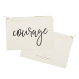 Courage Cotton Canvas Cosmetic Bag - The Cotton and Canvas Co.