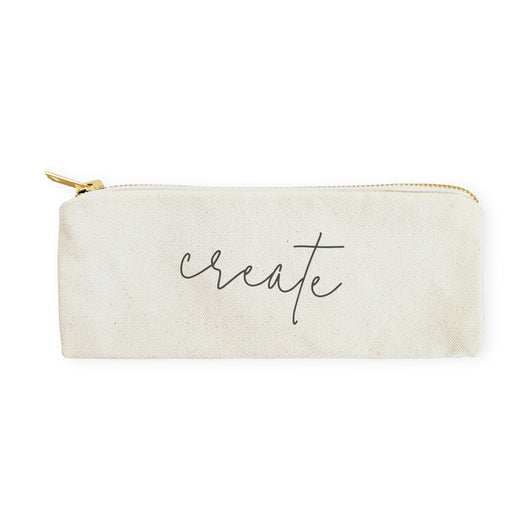 Create Cotton Canvas Pencil Case and Travel Pouch - The Cotton and Canvas Co.