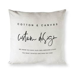 Custom Pillow Cover - The Cotton and Canvas Co.