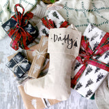 Daddy Cotton Canvas Christmas Stocking - The Cotton and Canvas Co.
