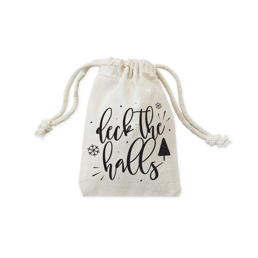 Deck the Halls Christmas Holiday Favor Bags, 6-Pack - The Cotton and Canvas Co.