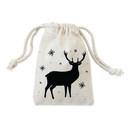 Deer Rustic Christmas Holiday Favor Bags, 6-Pack - The Cotton and Canvas Co.