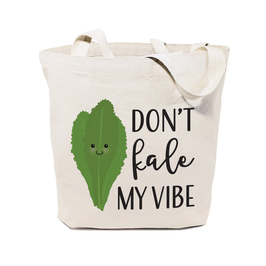 Don't Kale My Vibe Cotton Canvas Tote Bag - The Cotton and Canvas Co.