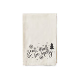 Eat, Drink and Be Merry Christmas Cotton Muslin Napkins - The Cotton and Canvas Co.