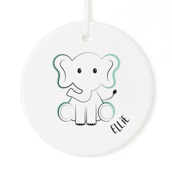 Personalized Name Elephant Christmas Ornament - The Cotton and Canvas Co.