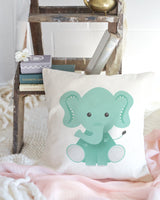 Elephant Baby Pillow Cover - The Cotton and Canvas Co.