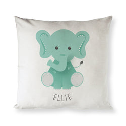 Personalized Elephant Baby Pillow Cover - The Cotton and Canvas Co.