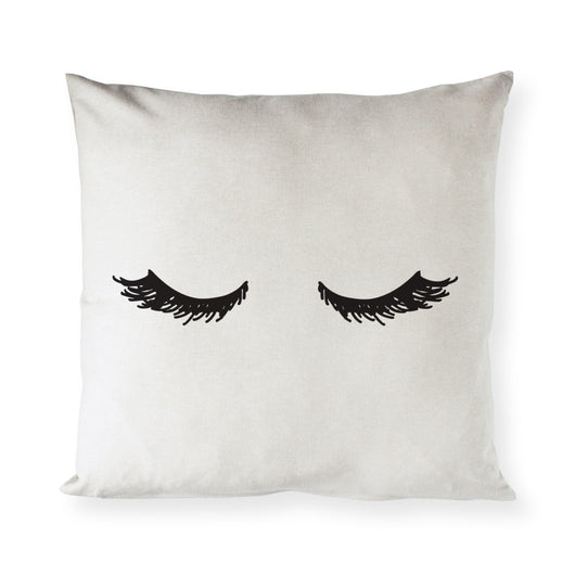 Mascara Closed Eyelashes Pillow Cover - The Cotton and Canvas Co.