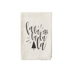 Falalalala Christmas Cotton Canvas Muslin Napkins - The Cotton and Canvas Co.