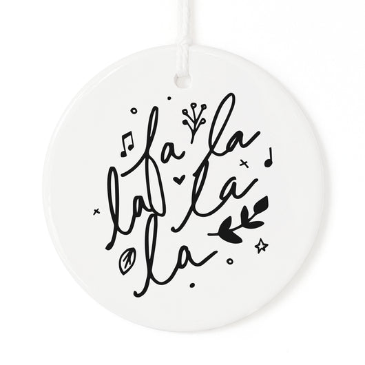 Fa La La La La Christmas Ornament - The Cotton and Canvas Co.