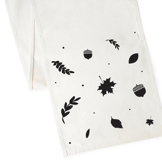 Fall Leaves Cotton Canvas Table Runner - The Cotton and Canvas Co.