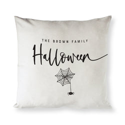 Personalized Family Name Halloween Cotton Canvas Halloween Pillow Cover - The Cotton and Canvas Co.