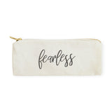Fearless Cotton Canvas Pencil Case and Travel Pouch - The Cotton and Canvas Co.