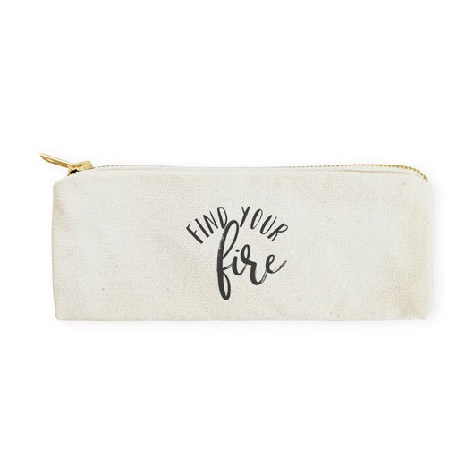 Find Your Fire Cotton Canvas Pencil Case and Travel Pouch - The Cotton and Canvas Co.