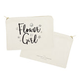Flower Girl Cotton Canvas Cosmetic Bag - The Cotton and Canvas Co.