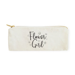 Flower Girl Cotton Canvas Pencil Case and Travel Pouch - The Cotton and Canvas Co.