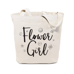 Cotton Canvas Flower Girl Wedding Tote Bag - The Cotton and Canvas Co.