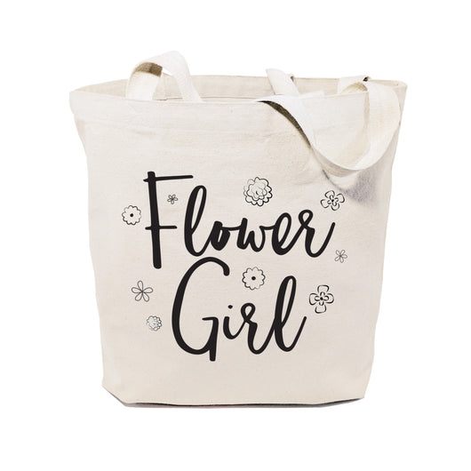 Flower Girl Wedding Cotton Canvas Tote Bag - The Cotton and Canvas Co.