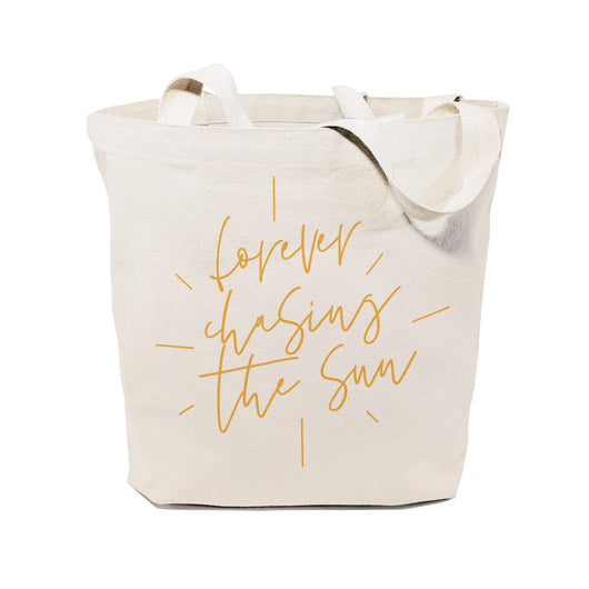Forever Chasing the Sun Cotton Canvas Tote Bag - The Cotton and Canvas Co.