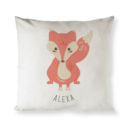 Personalized Fox Baby Pillow Cover - The Cotton and Canvas Co.