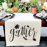 Gather Canvas Table Runner - The Cotton and Canvas Co.
