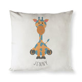 Personalized Giraffe Baby Pillow Cover - The Cotton and Canvas Co.