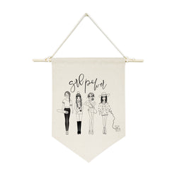 Girl Power Hanging Wall Banner - The Cotton and Canvas Co.