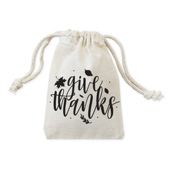 Give Thanks Thanksgiving Favor Bags, 6-Pack - The Cotton and Canvas Co.