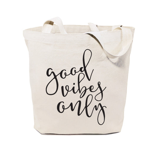 Good Vibes Only Cotton Canvas Tote Bag - The Cotton and Canvas Co.