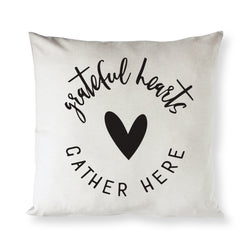 Grateful Hearts Gather Here Pillow Cover - The Cotton and Canvas Co.