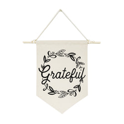 Grateful Hanging Wall Banner - The Cotton and Canvas Co.