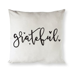 Grateful Throw Pillow Cover - The Cotton and Canvas Co.
