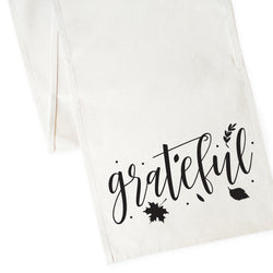 Grateful Cotton Canvas Table Runner - The Cotton and Canvas Co.