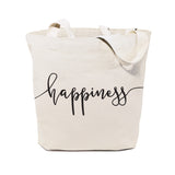 Happiness Cotton Canvas Tote Bag - The Cotton and Canvas Co.